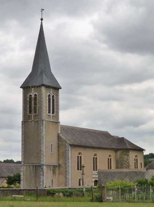 Church France Vielle Adour Pitched Roof