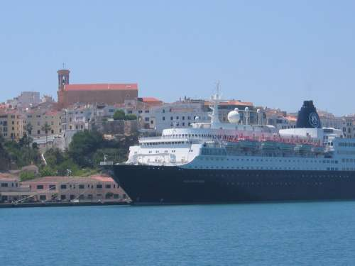 Church Cruise Ship Cruise Ship Sea Menorca City