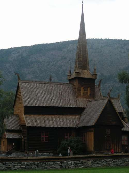 Church Wooden Church Norway Lom