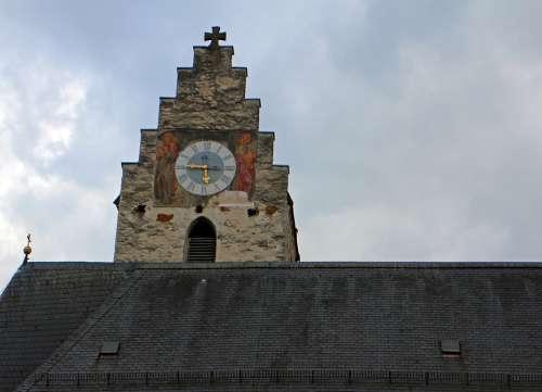Church Clock Clock Tower Historically Church