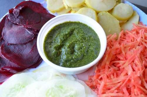Chutney Indian Food Sauce Salad Platter