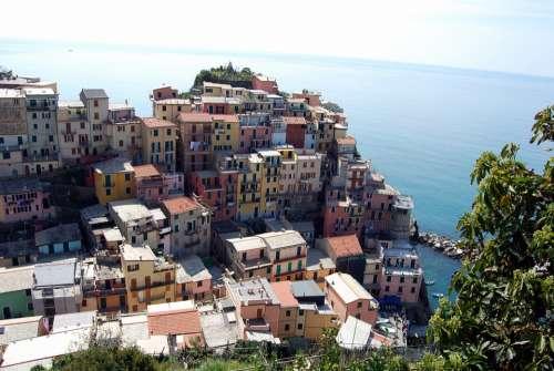 Cinque Terre Liguria Houses Sea Mountain Colors