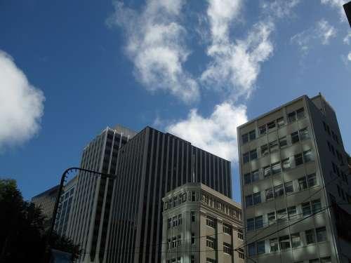 City Sky City Centre Building Plaza Office