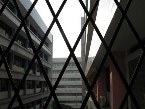 City Building City Centre Bars Prison Architecture