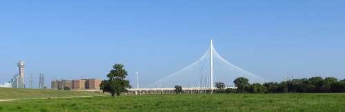 City Skyline Dallas Texas Bridge