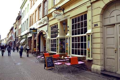 City Cafe Coffee Urban People Breakfast Street