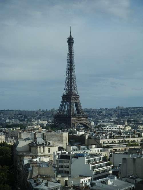 City Panorama Paris France Buildings View