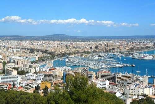 City Palma Majorca Spain Port Ships Boats