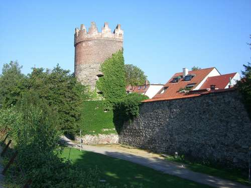 City Wall Ravensburg Downtown Middle Ages Fortress