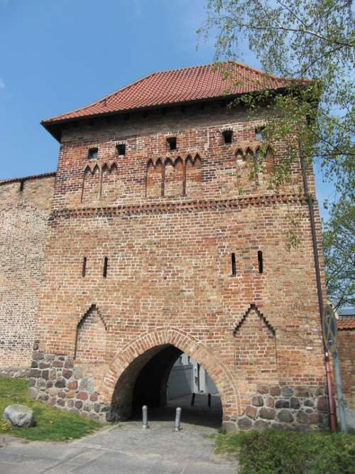 City Wall Rostock Town Fortifications Middle Ages
