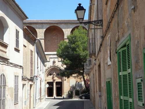 Cityscape Petra Mallorca City View Historic Center