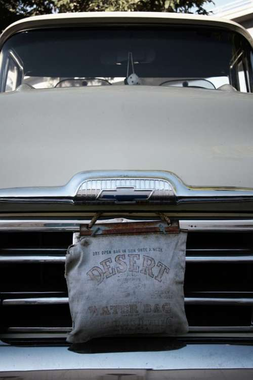 Classic Car Truck Pickup Grill Vintage Water