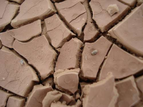 Clay Soil Dehydrated Desert Dry Hot Parching