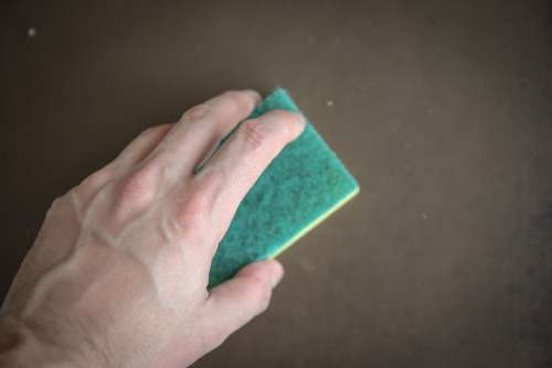 Cleaning Washing Cleanup Sponge Washcloth The Hand
