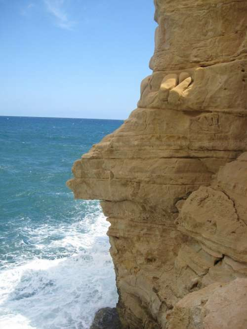 Cliff Rocks Sea