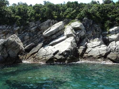 Cliff Sea Sea Rocks Costa