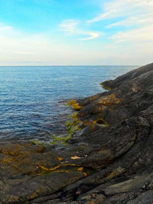 Cliff Seashore Archipelago Nåttarö