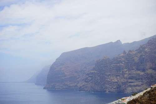 Cliffs Cliff Los Gigantes Tenerife
