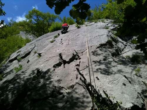 Climbing Rock Lombardy Italy