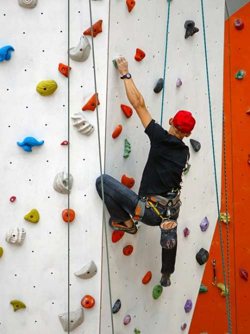 Climbing Rope Rappelling Wall Rock Extreme Sport