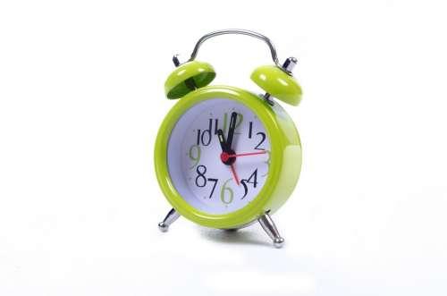 Clock Alarm Watch Green Time Sleep Hour Isolated