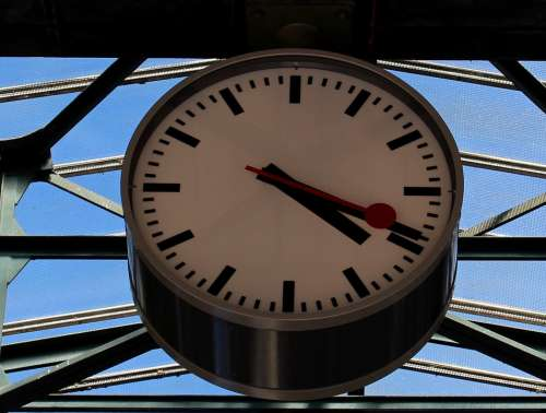 Clock Time Station Clock Sbb Railway Station