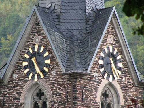 Clock Church Clock Time Clock Tower Time Of
