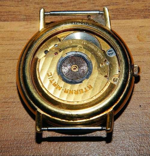 Clock Swiss Watch Eterna-Matic Automatic Time