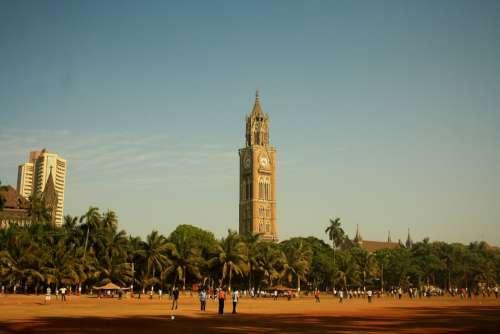 Clock Tower Victorian Architecture Mumbai India