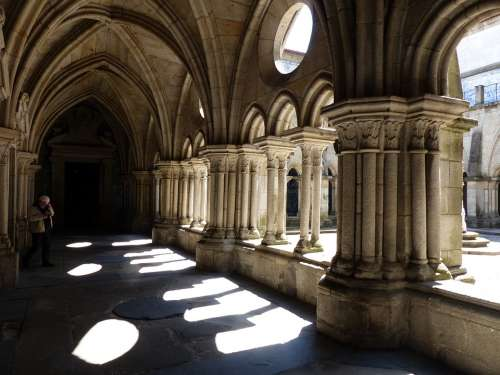 Cloister Cathedral Backlighting