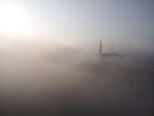 Cloud Fog Solar Sky Iron Tower