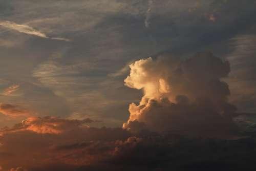 Cloud Sky Light Sunset
