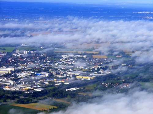 Cloud Sky White Plane Day The Haze Ground