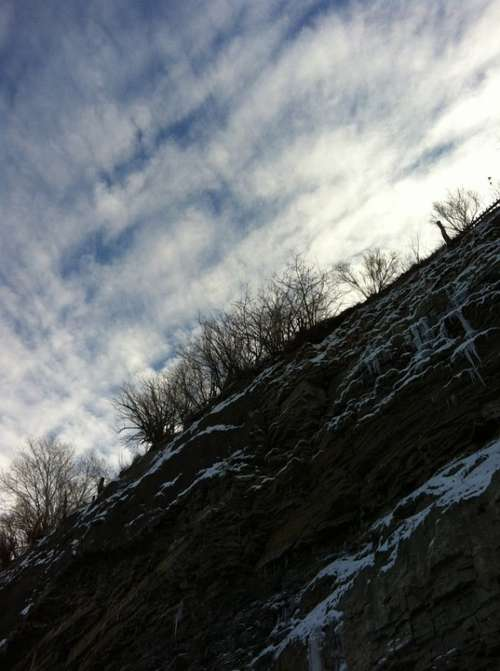 Clouds Angle Angle Perspective Cliff Snow