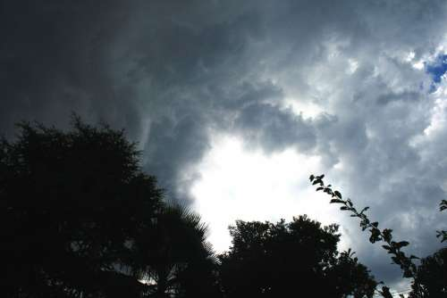 Clouds Thickening Closing In Storm Building Dark