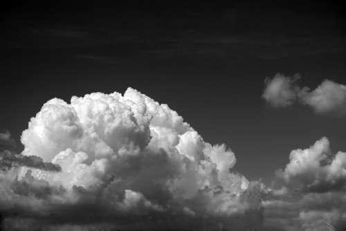 Clouds Floppy Clouds Cloudy Sky Black White Sky