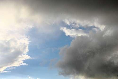 Clouds Storm Rain Sky Blue Dark Clouds Light