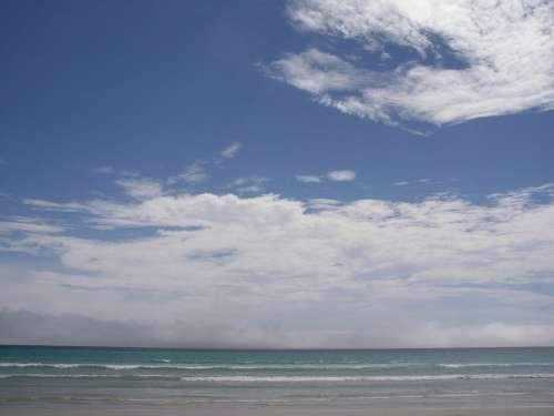 Clouds Landscapes Sky Nature Sunshine Beach Sea