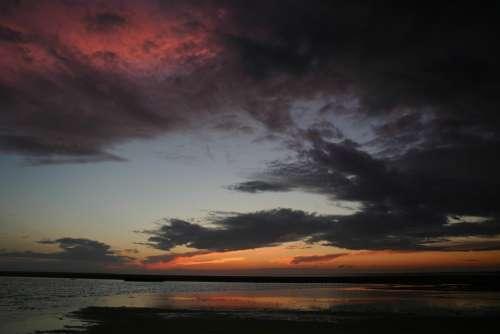 Clouds Night Sunset Dark Sky Sky Night Scene