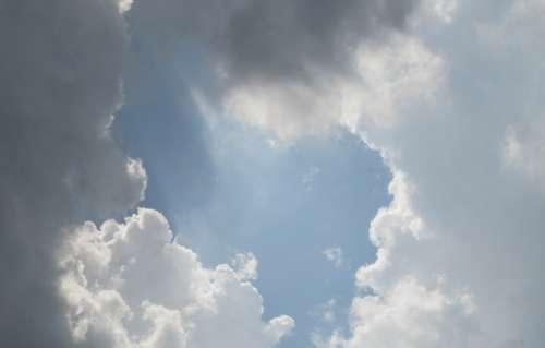Clouds Sky Heaven Weather Blue Dark Sun Sunlight