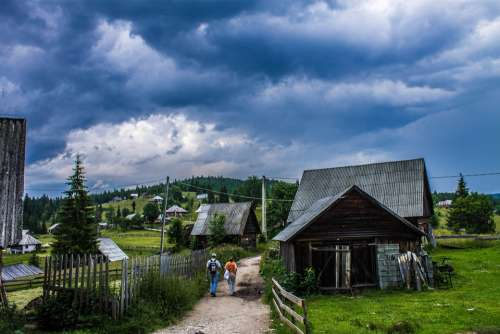 Clouds House Romania Landscape Summer Shack Shed