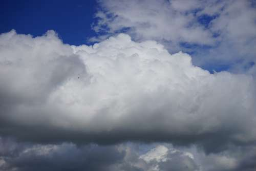 Clouds Cloudiness Sky White Blue Atmosphere