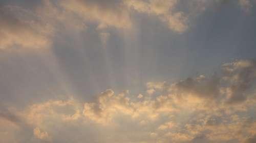 Clouds Rays Sunbeam