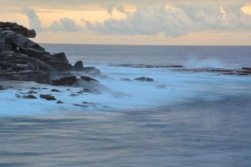 Clovelly Sydney Australia Ocean Waves Rocks