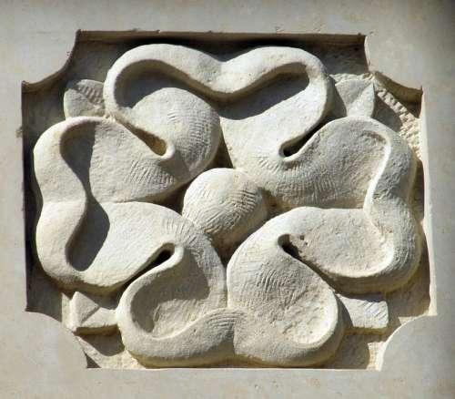 Clover Ornament Stone Artistic Architecture Cement
