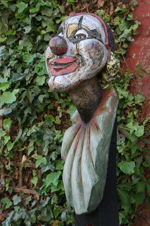 Clown Figure Carving