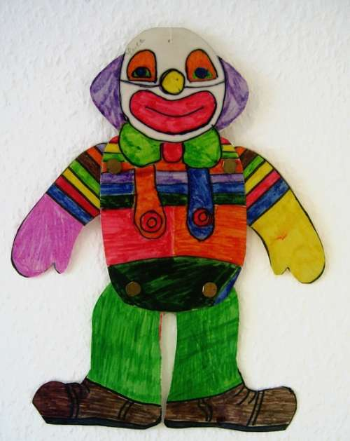 Clown Drawing Children Drawing Paint Smile Laugh