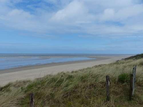 Coast East Frisia North Sea Sea Landscape Blue