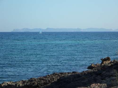 Coast Rocky Coast Mallorca Outlook Vision Distant