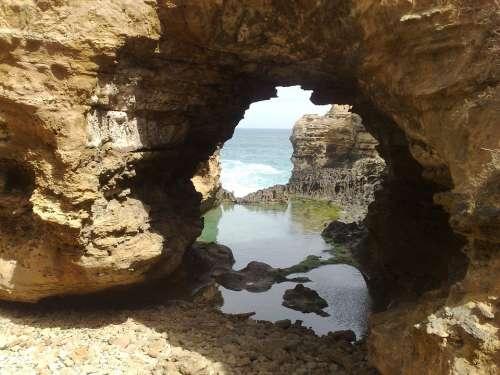 Coast Hole Arch Australie Rock Formation Landscape